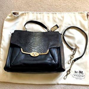 Coach Glitter Python Madison Sadie flap satchel
